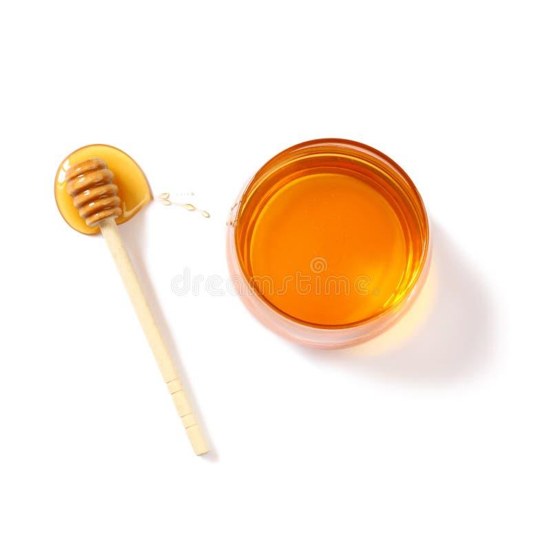 Concept de hashanah de Rosh (vacances de jewesh) - vue supérieure de miel sur le blanc symboles traditionnels de vacances images stock