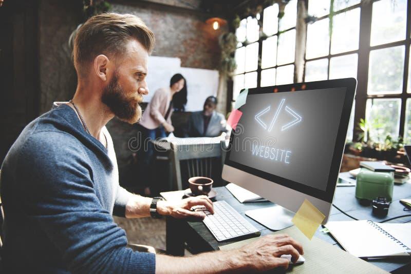 Concept de HTML de graphique de Digital d'Internet de développement de Web image stock
