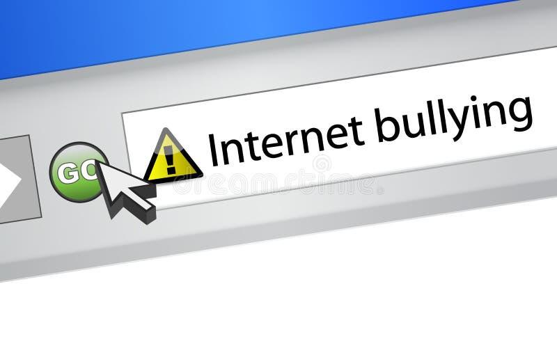 Concept de intimidation d'Internet. illustration de navigateur illustration de vecteur