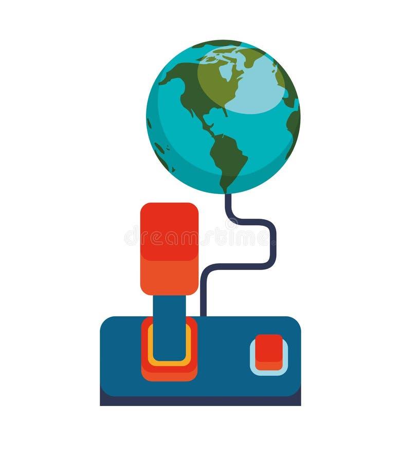 concept de jeu de manette du monde en ligne illustration libre de droits