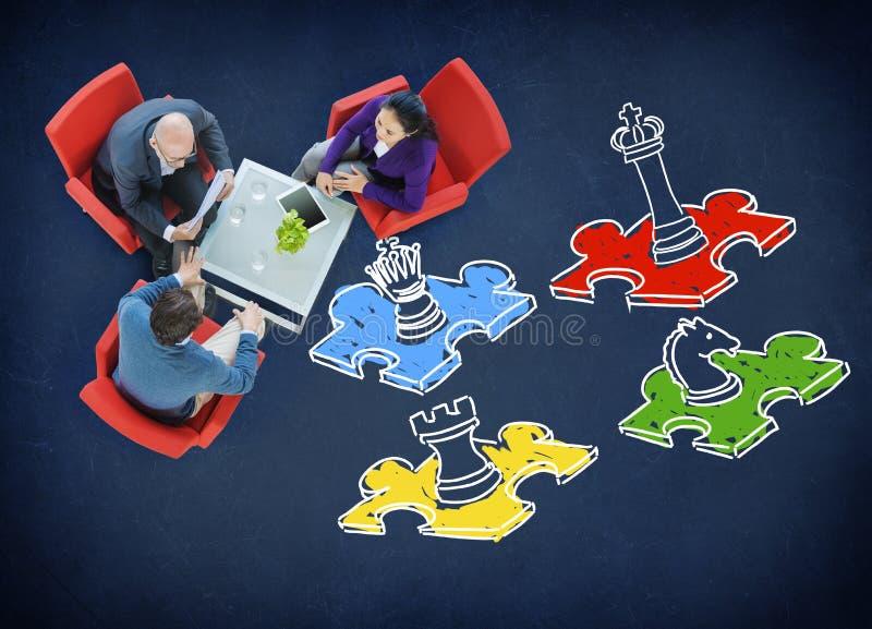 Concept de jeu de société de stratégie de la tactique de jeu de loisirs d'échecs photographie stock