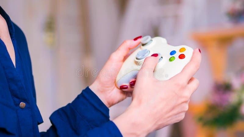 Concept de jeu, de passe-temps, de technologie et de temps libre images libres de droits