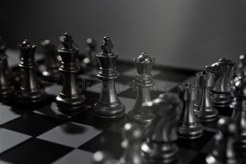Concept de jeu de société d'échecs d'équipe d'affaires photographie stock libre de droits