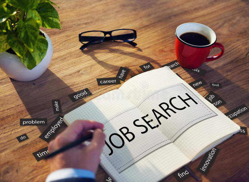 Concept de Job Search Career Jobless Occupation photos libres de droits