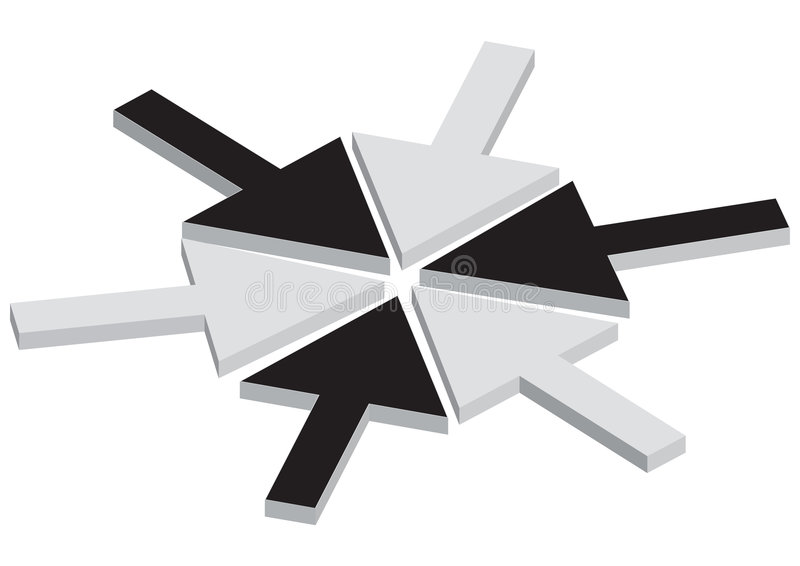Concept de jointure de flèche illustration stock