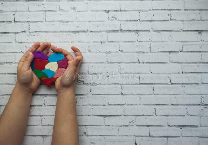 Concept de jour de conscience d'autisme du monde photo libre de droits
