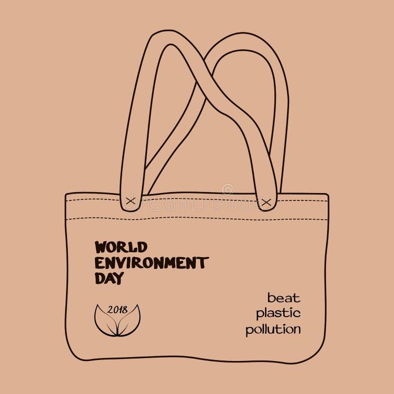 Concept 2018 de jour d'environnement du monde illustration libre de droits