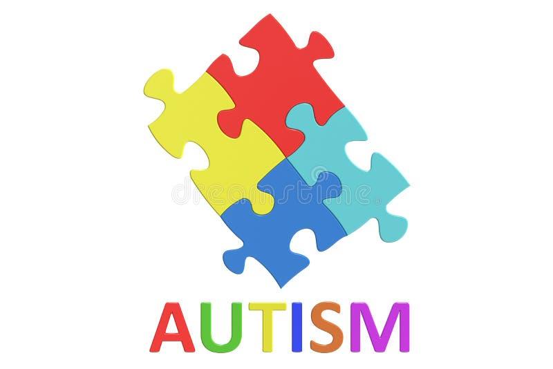 Concept de jour de conscience d'autisme illustration de vecteur