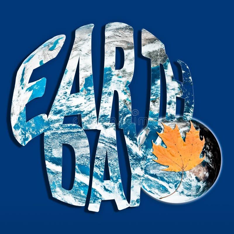 Concept de jour de terre dans bleu et orange illustration de vecteur