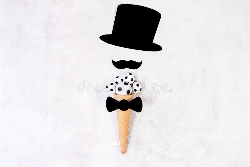 Concept de jour du ` s de p?re Moustache dr?le image libre de droits