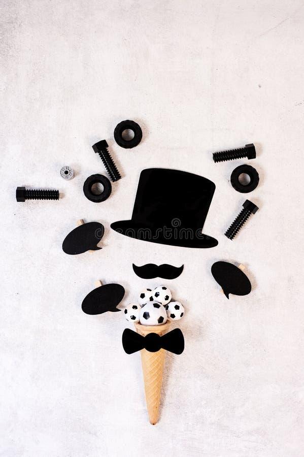 Concept de jour du ` s de p?re Moustache dr?le photo libre de droits