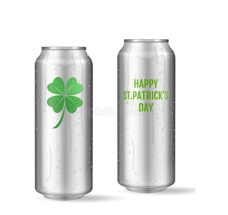 Concept de jour de St Patricks Ensemble réaliste de bière illustration de vecteur