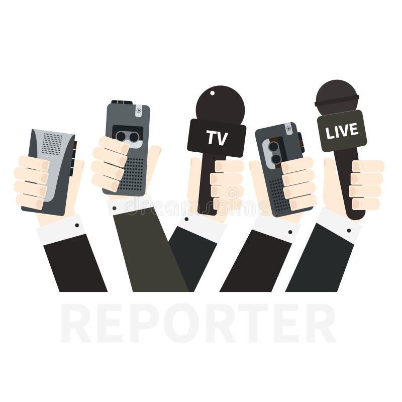Concept de journalisme illustration stock