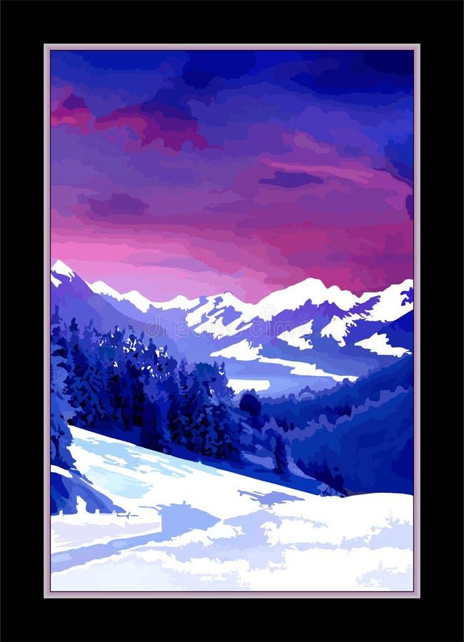 Concept de Joyeux Noël et de bonne année de vecteur de résumé, papier peint de fond de paysage photographie stock libre de droits