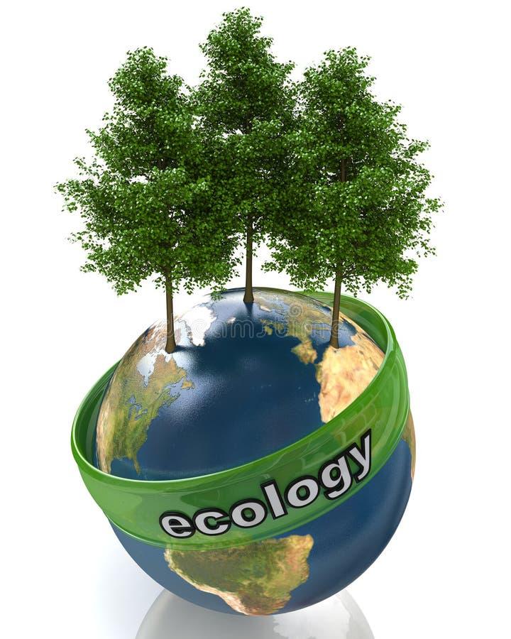 Concept de l'écologie illustration de vecteur