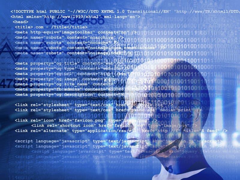 Concept de l'apprentissage automatique pour améliorer l'intelligence artificielle illustration libre de droits