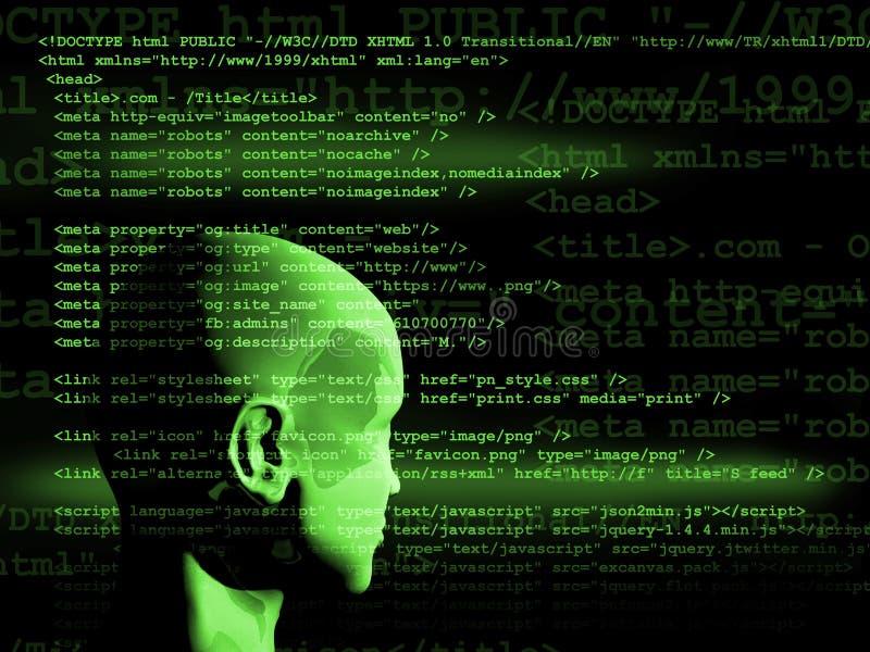 Concept de l'apprentissage automatique pour améliorer l'intelligence artificielle illustration stock