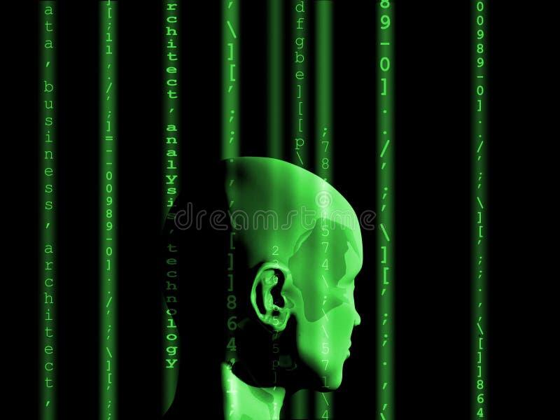 Concept de l'apprentissage automatique pour améliorer l'intelligence artificielle illustration de vecteur