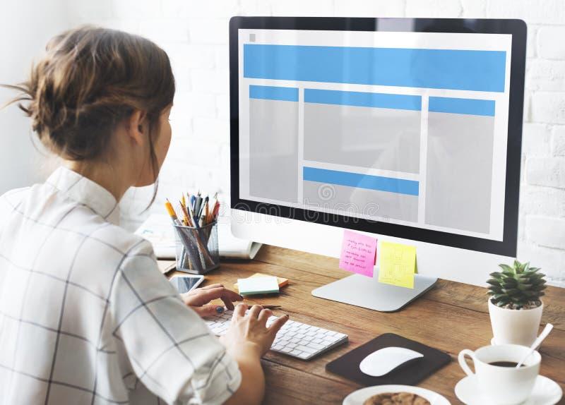 Concept de l'espace de copie de calibre de web design image stock