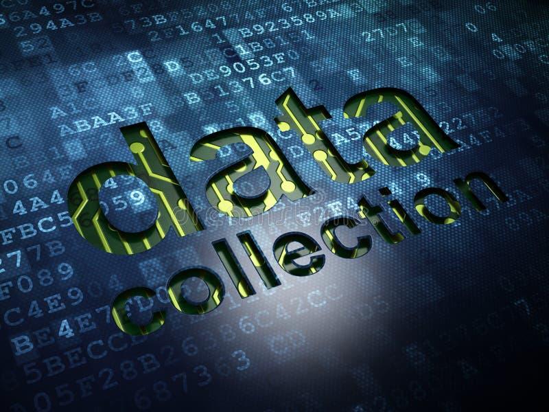 Concept de l'information : Collecte de données sur numérique illustration libre de droits