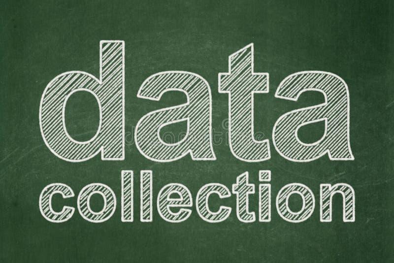 Concept de l'information : Collecte de données sur le fond de tableau illustration libre de droits
