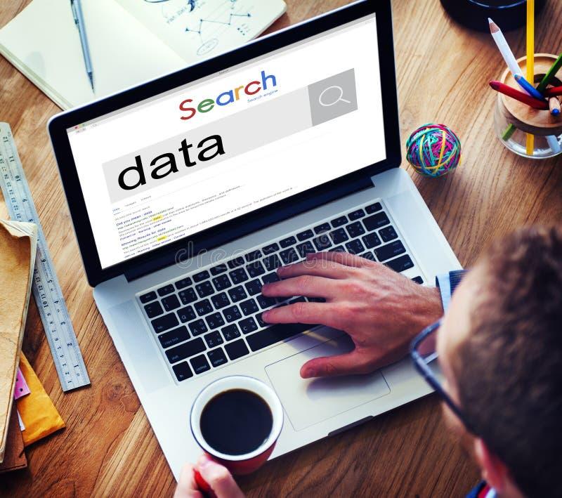 Concept de l'information d'analyse de Digital de système informatique de données photos libres de droits