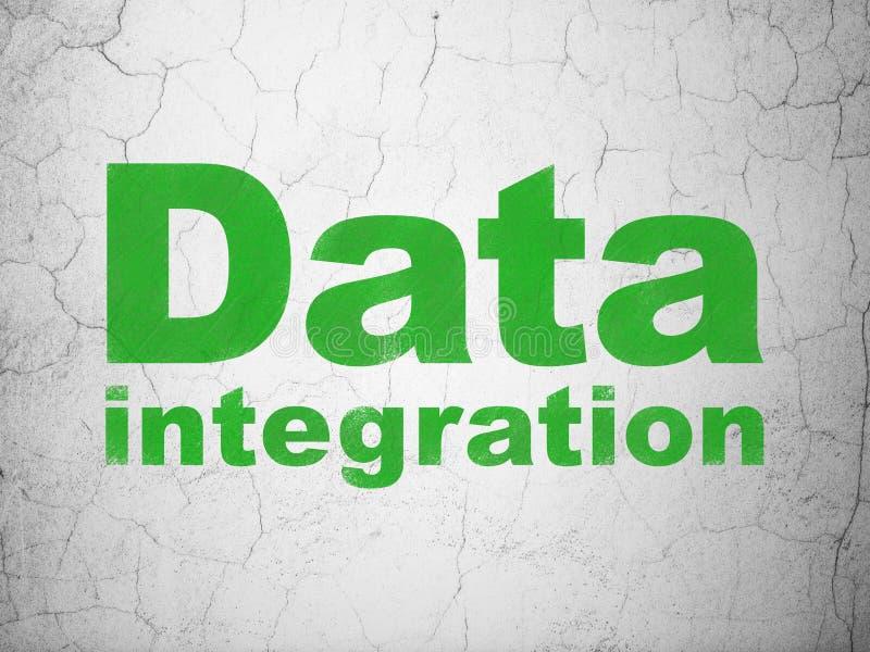 Concept de l'information : Intégration de données sur le fond de mur illustration stock