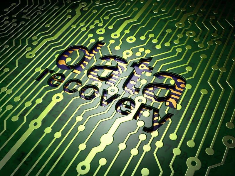 Concept de l'information : Récupération de données sur le circuit illustration libre de droits