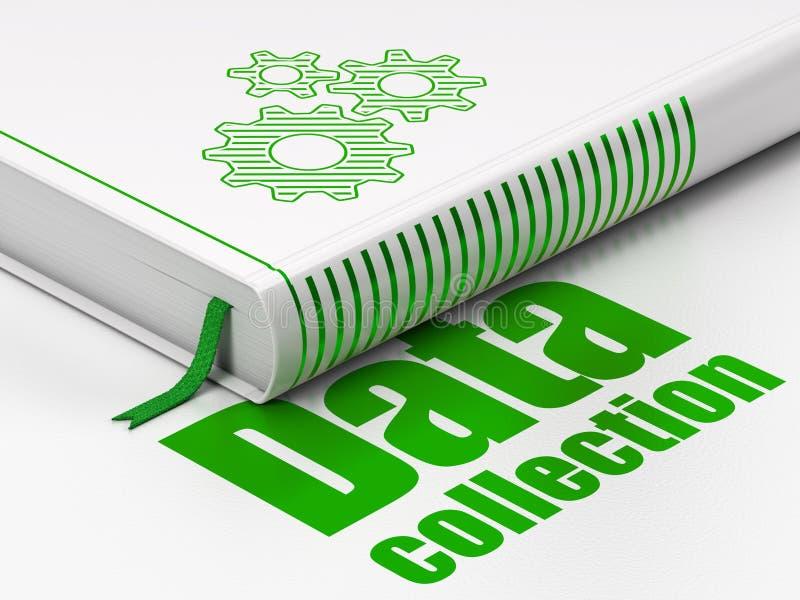 Concept de l'information : réservez les vitesses, collecte de données sur le fond blanc illustration de vecteur
