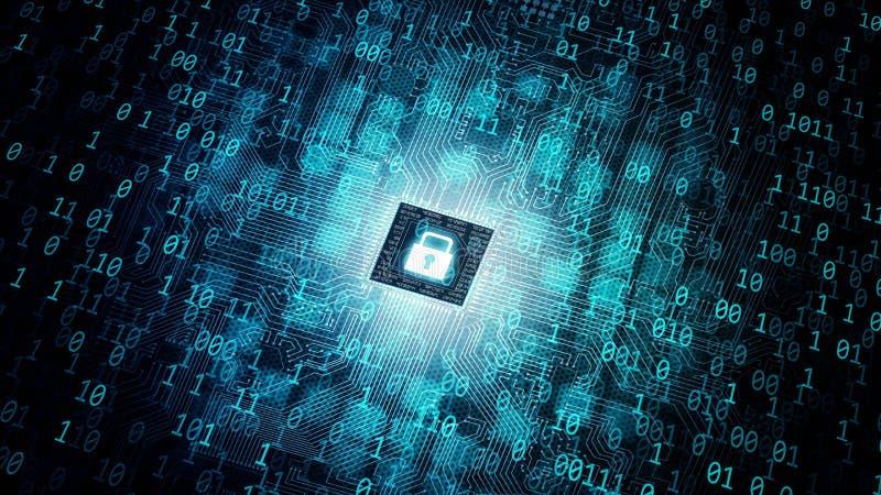 Concept de l'informatique d'internet sécurisé images libres de droits