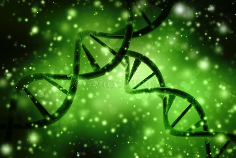 Concept de la biochimie avec la molécule d'ADN à l'arrière-plan abstrait médical rendu 3d illustration de vecteur