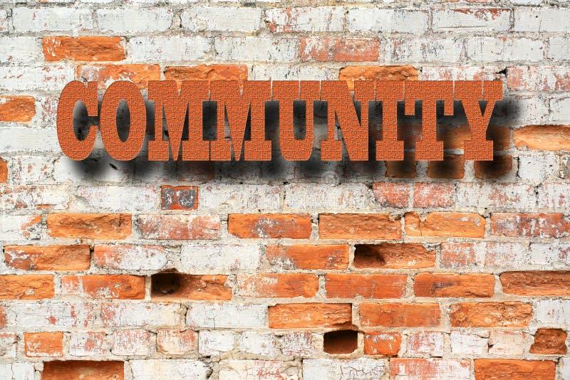 Concept de la Communauté - signe de la Communauté images stock