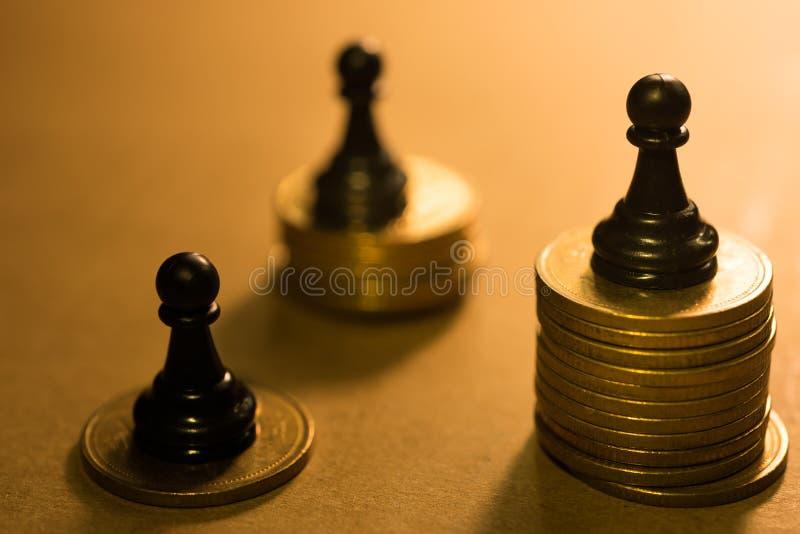Concept de la concurrence financière d'affaires photographie stock libre de droits