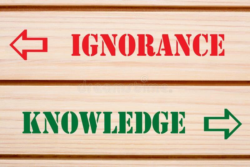 Concept de la connaissance d'ignorance photographie stock