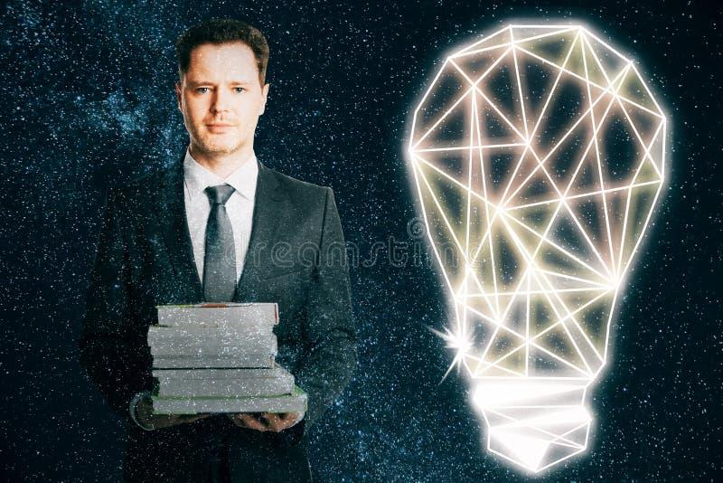 Concept de la connaissance et d'idée illustration stock