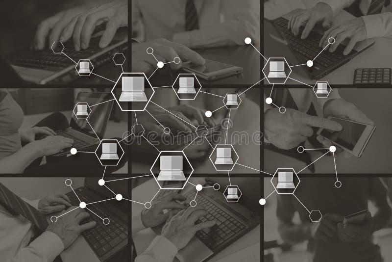 Concept de la connexion de dispositifs illustration stock