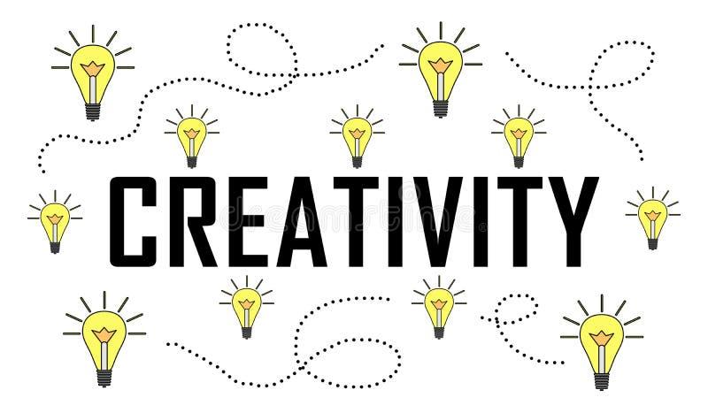 Concept de la créativité illustration de vecteur