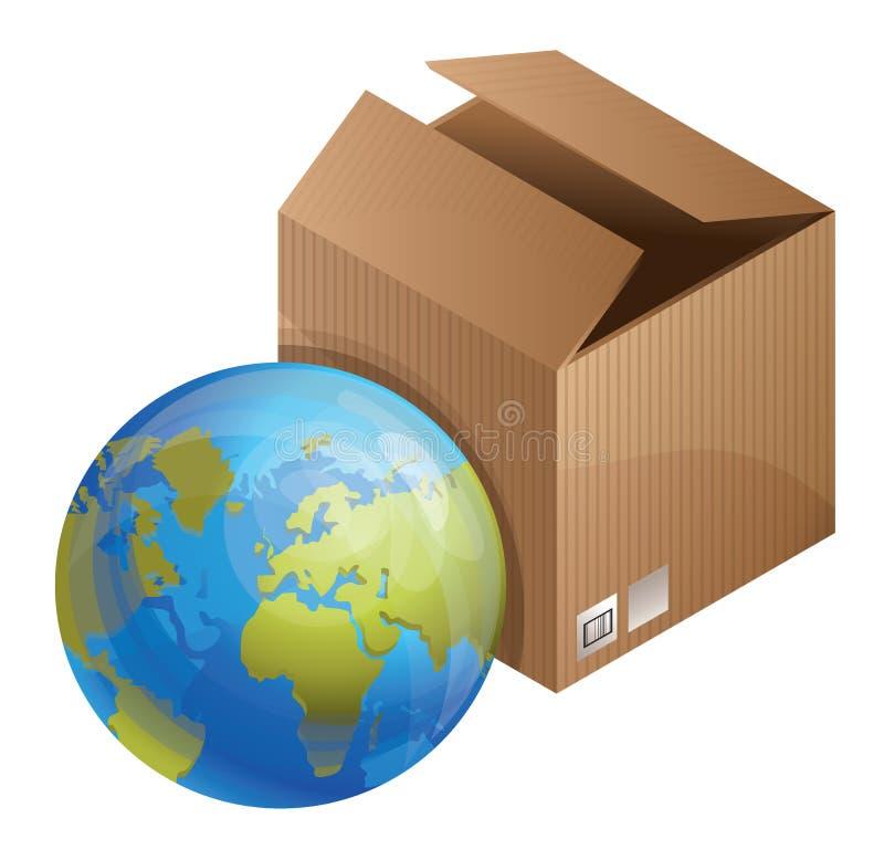 concept de la distribution du monde illustration de vecteur