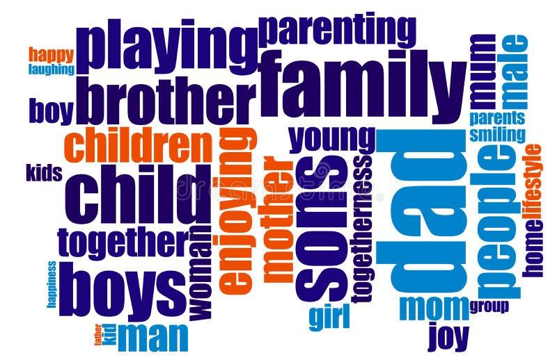 Concept de la famille illustration libre de droits