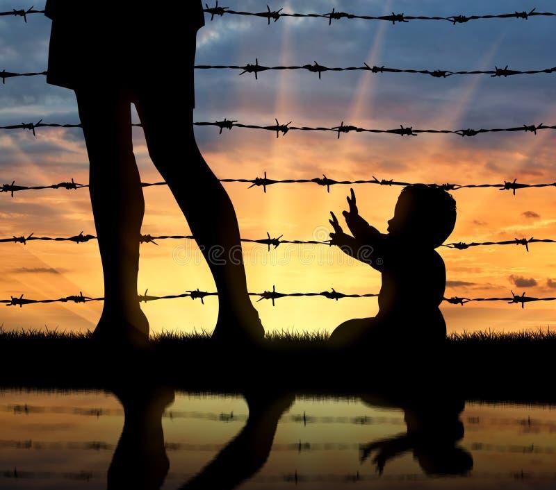 Concept de la famille de réfugié photos stock