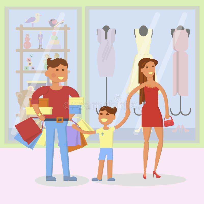 Concept de la famille heureux illustration stock