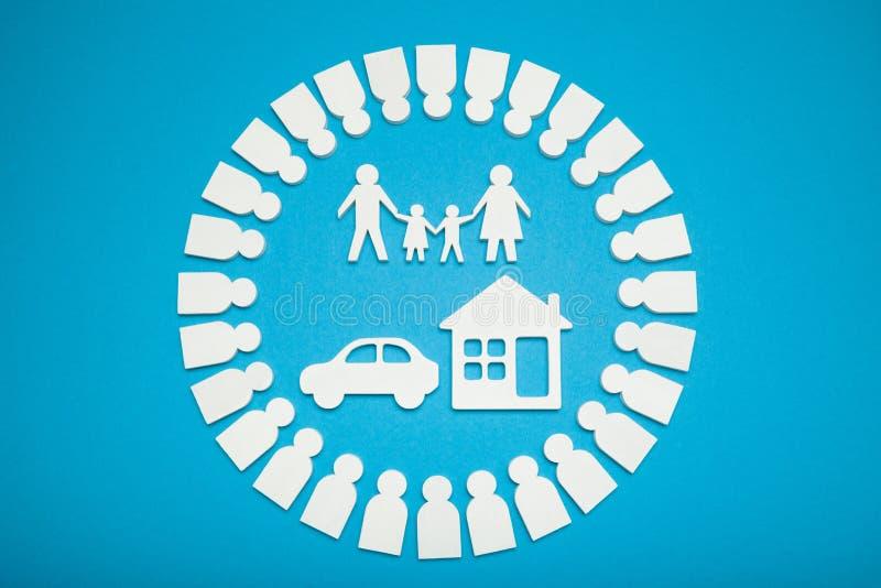 Concept de la famille riche, accord d'argent image libre de droits