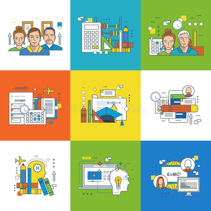 Concept de la formation, des types éducation, de la planification de projets et du travail d'équipe illustration libre de droits