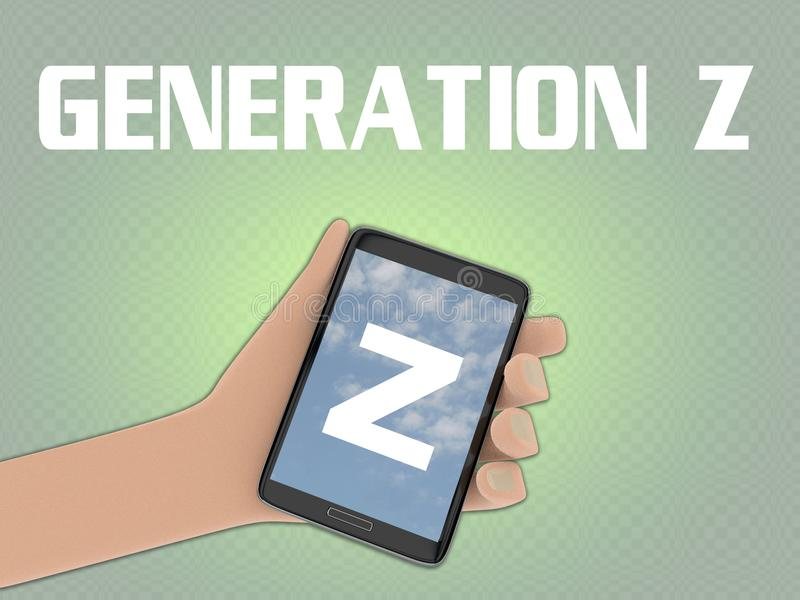 Concept de la GÉNÉRATION Z illustration libre de droits
