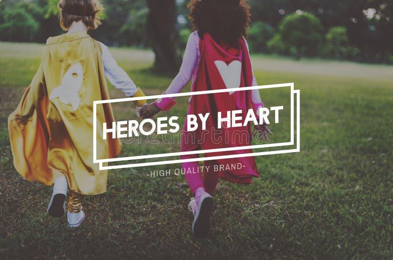 Concept de la jeunesse de héros innocent d'enfants jeune photos libres de droits