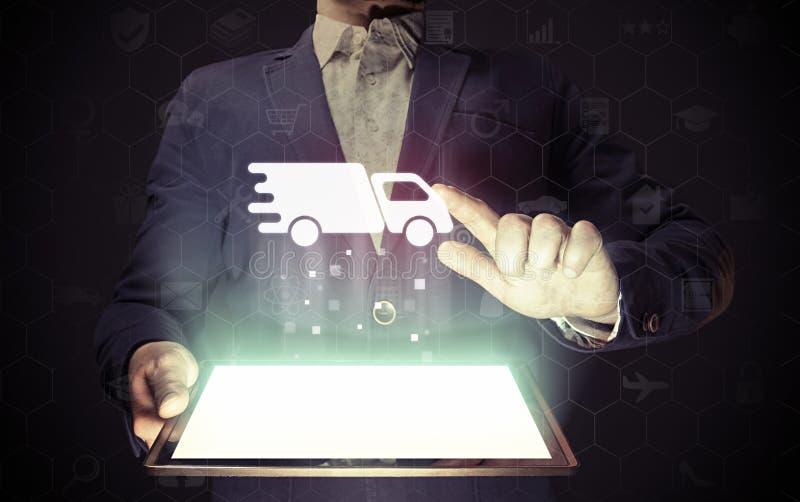 Concept de la livraison des cargaisons et des marchandises photographie stock libre de droits