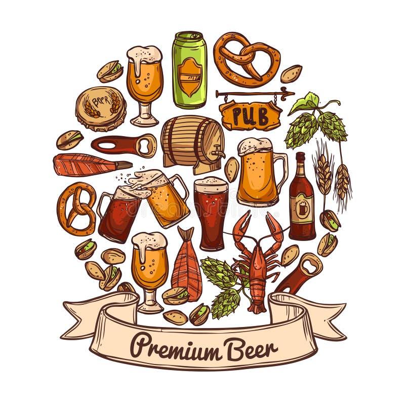 Concept de la meilleure qualité de bière illustration stock