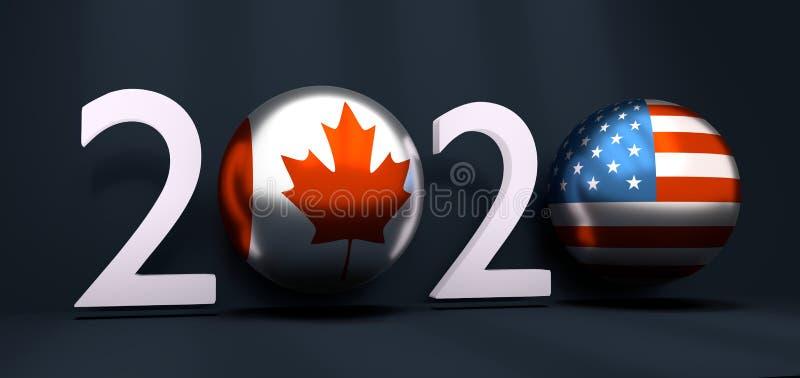 concept de la nouvelle année 2020 illustration libre de droits