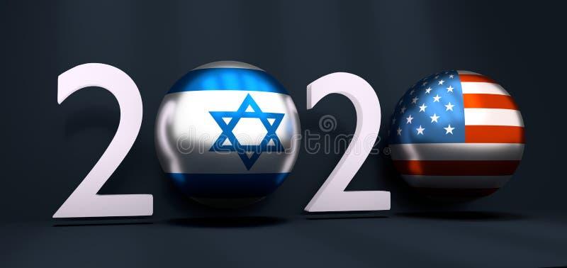concept de la nouvelle année 2020 illustration stock