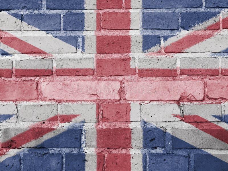 Concept de la politique de la Grande-Bretagne : Mur BRITANNIQUE de drapeau illustration libre de droits